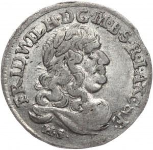 Prusy Księstwo, Fryderyk Wilhelm, szóstak - data 16822, Królewiec