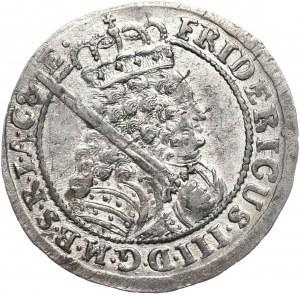 Prusy (księstwo), Fryderyk III, ort 1698 SD (szeroko rozstawione)