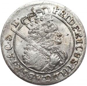 Prusy (księstwo), Fryderyk III, ort 1699 SD