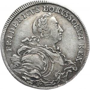 Prusy, Fryderyk II, półtalar 1752 B, Wrocław