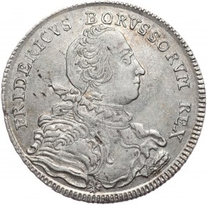 Niemcy, Prusy, Fryderyk II, półtalar 1751 B, Wrocław