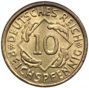Niemcy, Republika Weimarska, 10 fenigów 1926 G, Karlsruhe