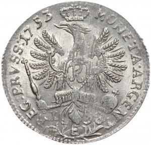 Prusy, Fryderyk II, ort 1753 E, Królewiec
