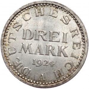 Niemcy, 3 marki 1924 A, Berlin