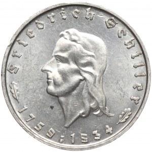 Niemcy, 2 marki 1934 F, Schiller