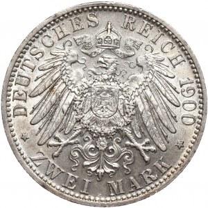Niemcy, Bawaria 2 marki 1900