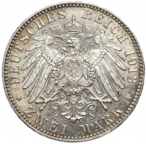 Niemcy, Bawariia 2 marki 1913