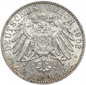Niemcy, Hamburg 2 marki 1903