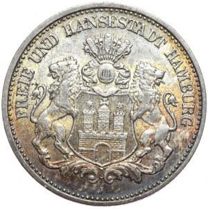 Niemcy, Hamburg 2 marki 1907