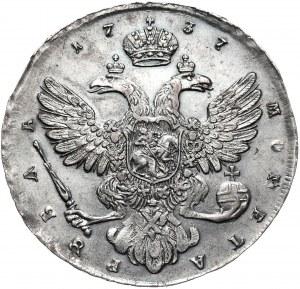 Rosja, Anna, rubel 1737, Krasnyj Dvor (Moskwa)