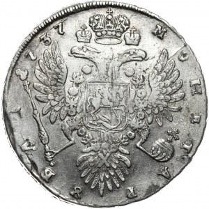 Rosja, Anna, rubel 1737, Moskwa