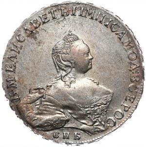 Rosja, Elżbieta, rubel 1755 СПБ-ЯI , Petersburg, portret autorstwa Scotta