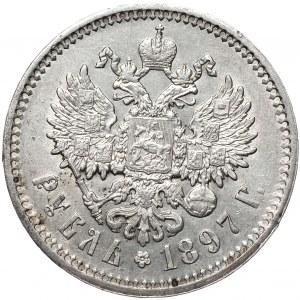 Rosja, Mikołaj II, Rubel 1897 AГ, Petersburg