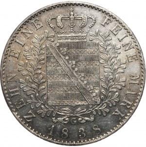 Niemcy, Saksonia, talar 1838