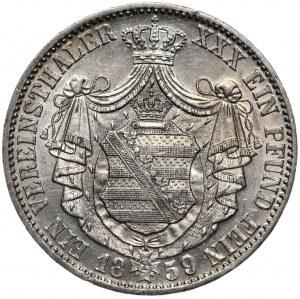 Niemcy, Saksonia, talar 1859