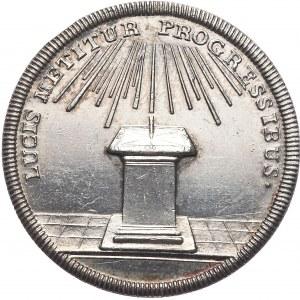 Szwecja, medal, Gustaw III Adolf z matką Ludwiką Ulryką Hohenzollern