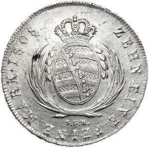 Saksonia, Fryderyk August III, talar 1808 SGH, Drezno.