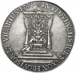 August III, półtalar wikariacki 1741, Drezno