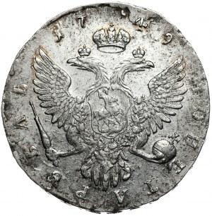 Rosja, Elżbieta, rubel 1749, Moskwa