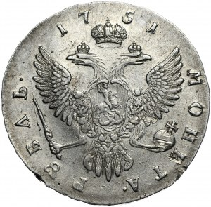 Rosja, Elżbieta, rubel 1751, Moskwa