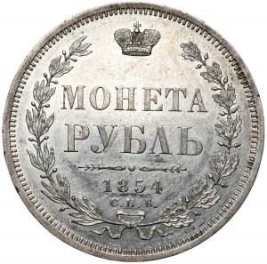 Rosja, Mikołaj I, rubel 1854 СПБ HI, Petersburg