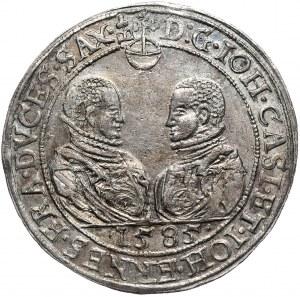 NIemcy, Saksonia-Coburg-Eisenach, Jan Kazimierz i Jan Ernest, talar 1585, Saafeld