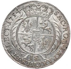 August III, Ort koronny 1754, Lipsk, młodzieńcze popiersie