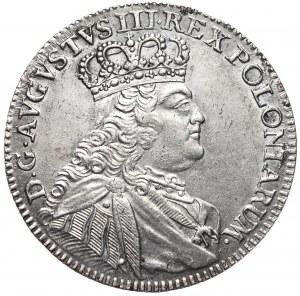 August III, Ort koronny 1754, Lipsk, młodzieńcze popiersie z mniejszą głową