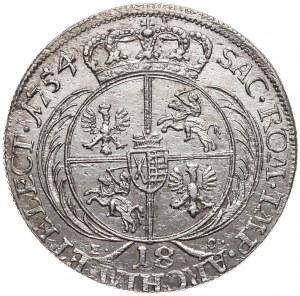 August III, Ort koronny 1754, Lipsk, rzadsze popiersie