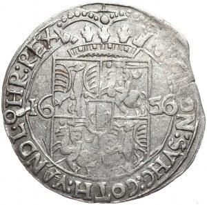 Jan Kazimierz, ort 1656, Lwów, z błędem SVHC zamiast SVEC.