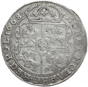 Jan Kazimierz, ort 1668 TLB, Bydgoszcz, przebitka błędu SEG/REG