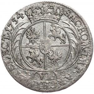 Kolekcja Piorta Anuszczyka, szóstak 1754, Lipsk, młodzieńcze popiersie