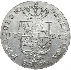 Stanisław August Poniatowski, dwuzłotówka 1791 EB, Warszawa