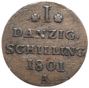 Wolne Miasto Gdańsk, szeląg 1801 A, Berlin