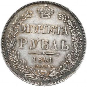 Rosja, Mikołaj I, rubel 1841 СПБ НГ, Petersburg