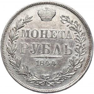 Zabór rosyjski, Mikołaj I, Rubel 1844 MW, Warszawa