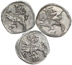 Zygmunt II August, zestaw 3 dwudenarów 1566, 1567, 1570, Wilno