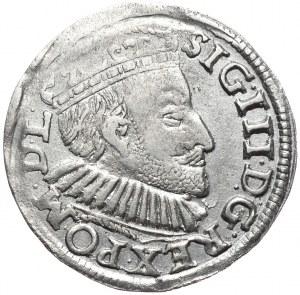 Zygmunt III Waza, trojak 1591, Poznań, sz