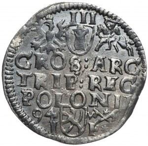 Zygmunt III Waza, trojak 1594, Poznań, odmienny portret