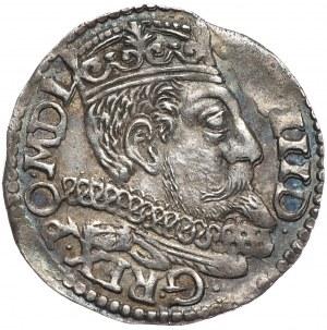 Zygmunt III Waza, trojak 1598, Poznań, przebitka błędu R.OO na R.PO