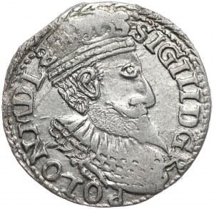 Zygmunt III Waza, trojak 1598, Olkusz, popiersie z długą brodą