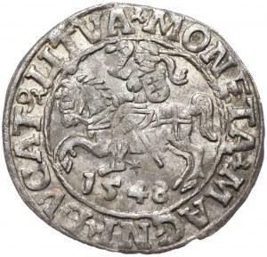 Zygmunt II August, półgrosz 1548, Wilno, L/LITVA