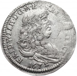 Prusy Księstwo, Fryderyk Wilhelm, 1/3 talara 1672 IL,