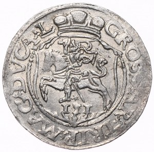 Zygmunt II August, trojak 1564, Wilno
