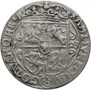 Kolekcja ortów polskich, ort 1623, Bydgoszcz, PRVSM+, rzadki typ popiersia.