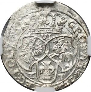 Jan Kazimierz, szóstak 1661 TT, Bydgoszcz obwódki na awersie i rewersie