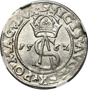 Zygmunt II August, trojak 1562 Wilno, L/LI