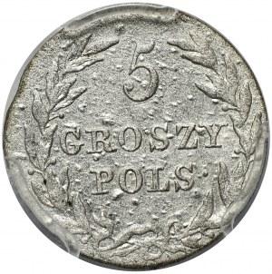 Królestwo Kongresowe, Aleksander I, 5 groszy 1816, Warszawa