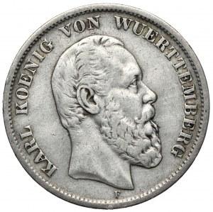 Niemcy, Wirtembergia, 5 marek 1876 F