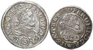 Austria, Ferdynand II, 3 krajcary 1634, 1636 - 2 szt.